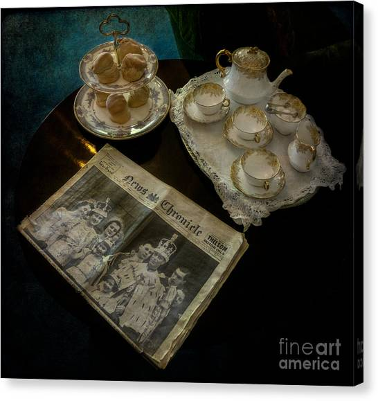 Queen Elizabeth Canvas Print - Afternoon Tea by Adrian Evans