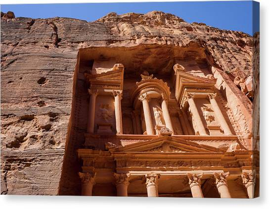 Arabian Desert Canvas Print - Al-khazneh The Treasury, Petra, Wadi by Leslie Parrott