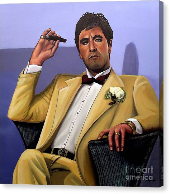 Scarface Canvas Print - Al Pacino by Paul Meijering