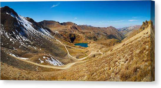 4x4 Canvas Print - Alaska Basin And Como Lake Surrounded by Panoramic Images