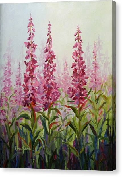 Alaska Fireweed Canvas Print