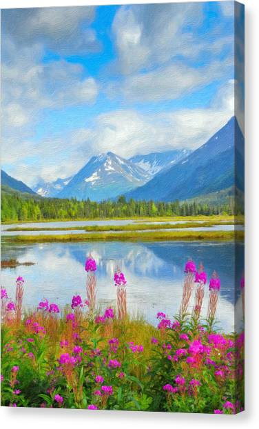 Alaskan Horizons Oil Painting Canvas Print