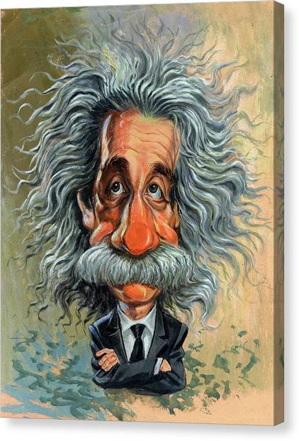 Science Canvas Print - Albert Einstein by Art