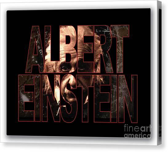 Pioneers Canvas Print - Albert Einstein by Marvin Blaine