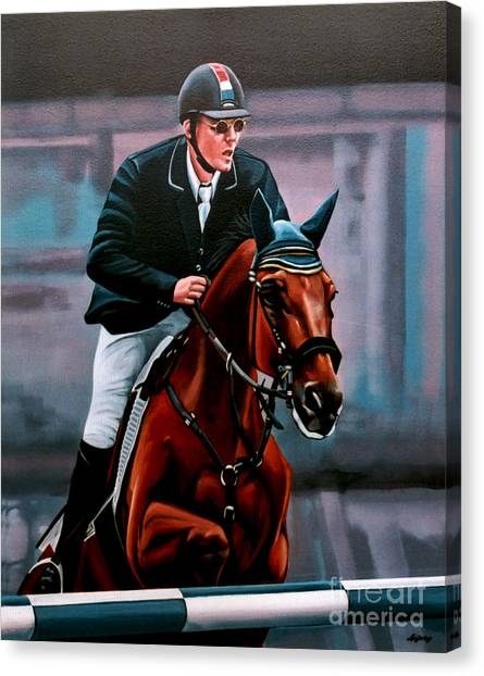 Equestrian Canvas Print - Albert Zoer And Sam by Paul Meijering