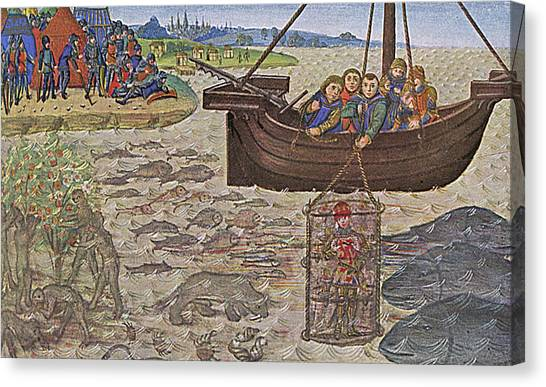 Diving Bell Canvas Print - Alexander The Great, King Alexander IIi by Mary Evans Picture Library