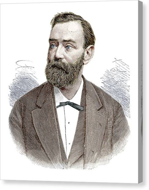 Nobel Canvas Print - Alfred Nobel by Science Photo Library