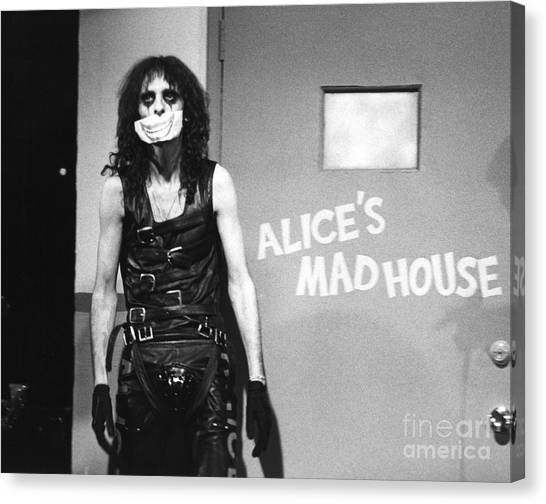 Chris Walter Canvas Print - Alice Cooper 1979 by Chris Walter
