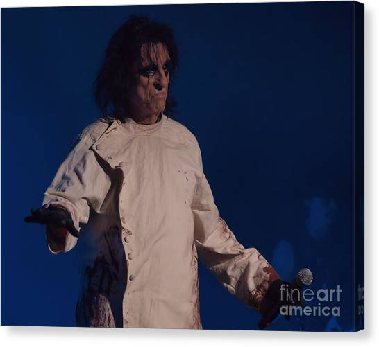 Alice Cooper Canvas Print - Alice Cooper  by Frank Piercy