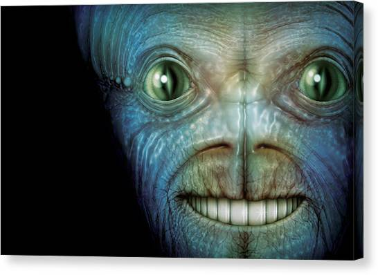 Alien Face Canvas Print