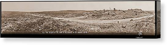 Maas Canvas Print - All That Is Left Of The Town by Fred Schutz Collection
