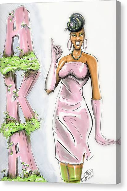 Alpha Kappa Alpha Canvas Print - Alpha Kappa Alpha by Tu-Kwon Thomas
