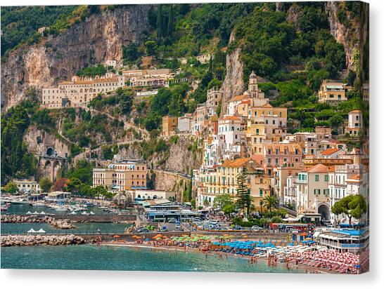 Amalfi City Canvas Print