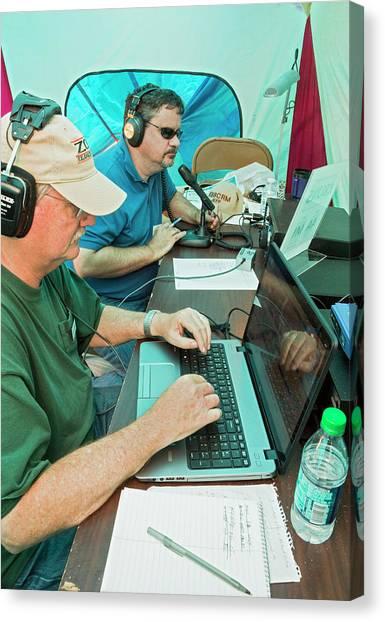Ham Canvas Print - Amateur Radio Operators by Jim West
