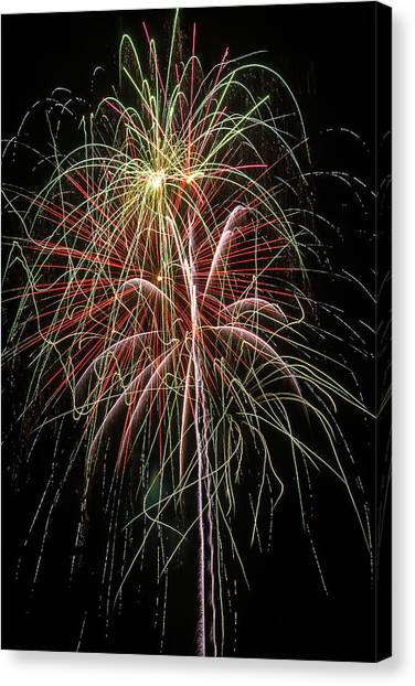 Pyrotechnics Canvas Print - Amazing Fireworks by Garry Gay