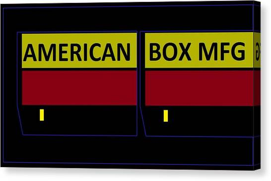 American Box Mfg Canvas Print