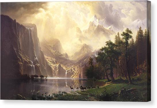 Among The Sierra Nevada Mountains California Canvas Print