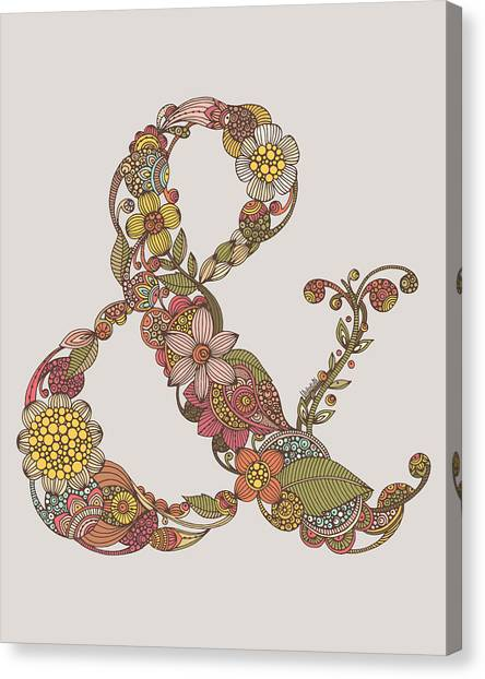 Word Art Canvas Print - Ampersand by Valentina