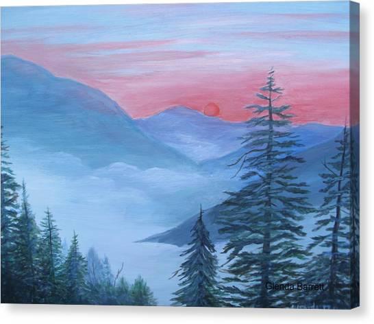 An Appalachian Morning Canvas Print by Glenda Barrett