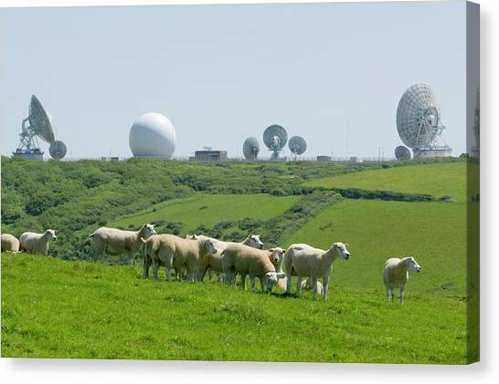 Big Brother Canvas Print - An Early Warning Radar Station by Ashley Cooper