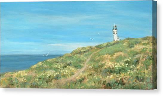 Anacapa Lighthouse Study Canvas Print by Tina Obrien