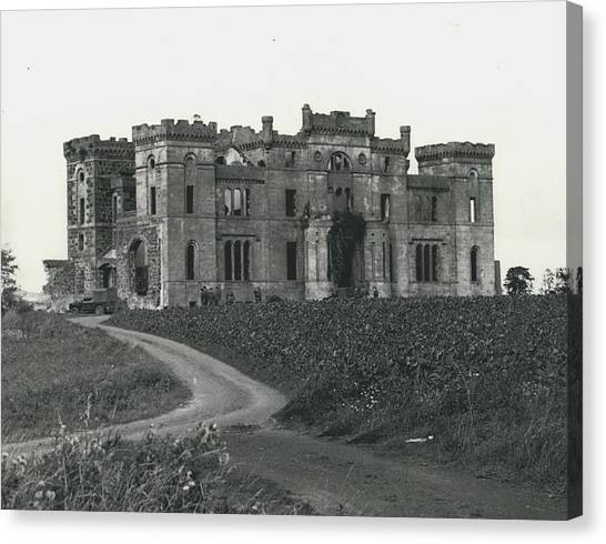 Ancient Castle Goes Up In Smoke. Blown Up By 500 Of Canvas Print by Retro Images Archive