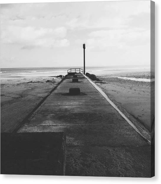 Seashells Canvas Print - Anderby Beach Beacon Iv by Gemma Knight