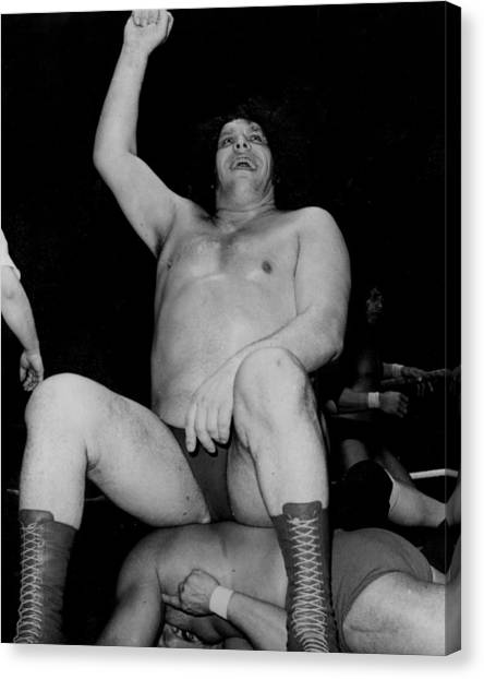 Wwe Canvas Print - Andre The Giant by Retro Images Archive