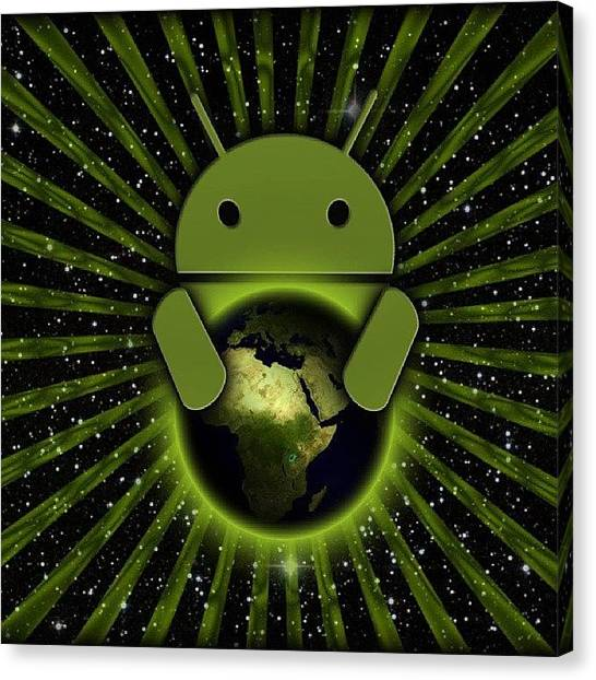 Droid Canvas Print - #android #androidonly #google by Chikhaoui Zouhaier