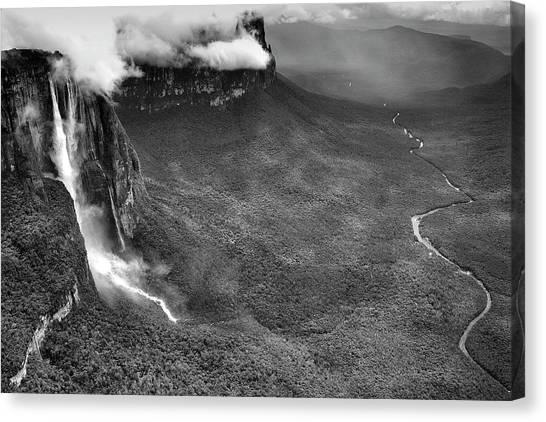 Angel Falls Canvas Print - Angel Falls Salto Del Angelcanaima by David Santiago Garcia