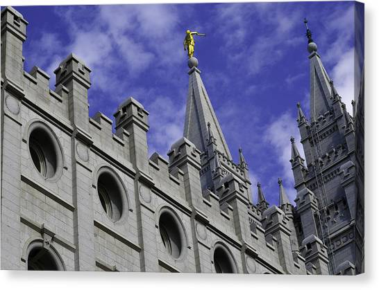 Angel On The Temple Canvas Print