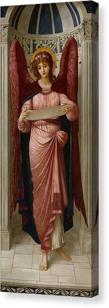 Worried Canvas Print - Angels by John Melhuish Strudwick