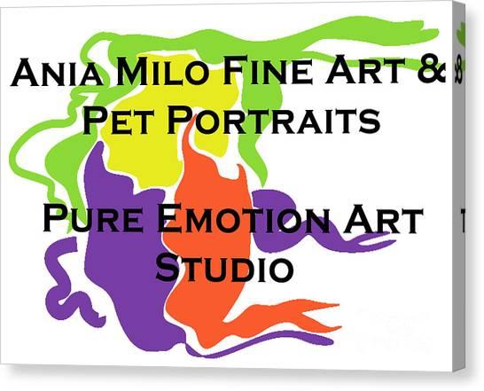 Ania Milo Canvas Print - Ania Milo Art Logo by Ania M Milo