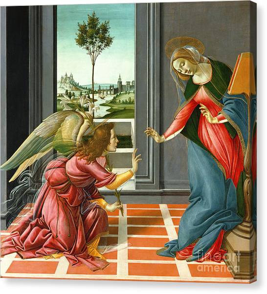 Botticelli Canvas Print - Annunciation by Sandro Botticelli