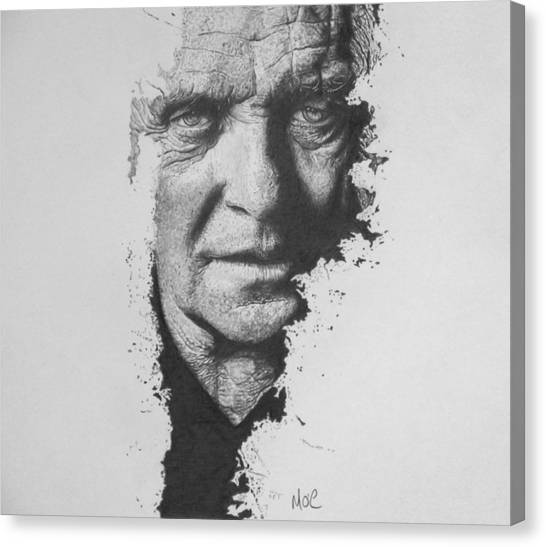 Anthony Hopkins Canvas Print - Anthony by Mike OConnell