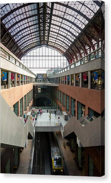Antwerp Central Station Canvas Print