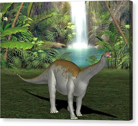 Brontosaurus Canvas Print - Apatosaurus Dinosaur by Friedrich Saurer