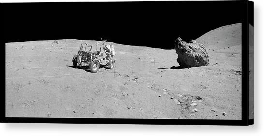 Space Suit Canvas Print - Apollo 16 Lunar Rover by Nasa/detlev Van Ravenswaay