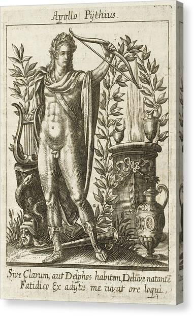 Apollo Pythias, The Greek God Canvas Print by Mary Evans Picture Library