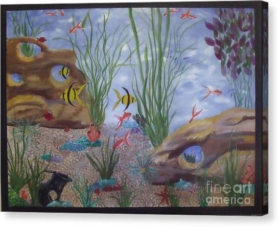 Aquarium Canvas Print by Debra Piro
