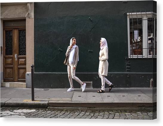 Arab Youth In Paris - Middle Eastern Millennials Canvas Print by LeoPatrizi