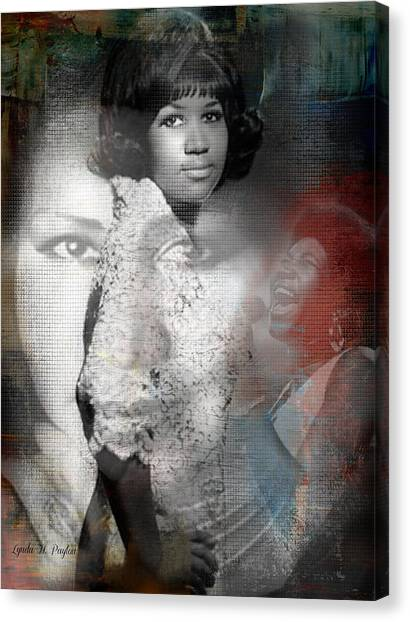 Aretha Franklin Canvas Print