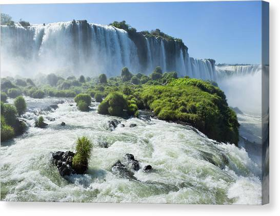Argentina Iguazu Waterfalls Garganta Canvas Print by Grafissimo