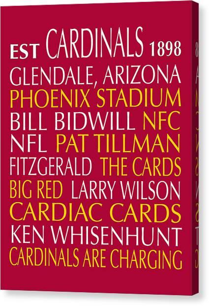 Arizona Cardinals Canvas Print - Arizona Cardinals by Jaime Friedman