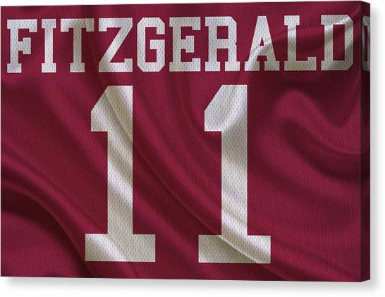 Arizona Cardinals Canvas Print - Arizona Cardinals Larry Fitzgerald by Joe Hamilton