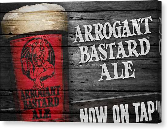 Beer Can Canvas Print - Arrogant Bastard by Joe Hamilton