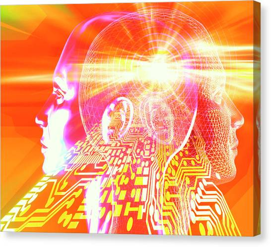 Artificial Intelligence Canvas Print by Alfred Pasieka/science Photo Library
