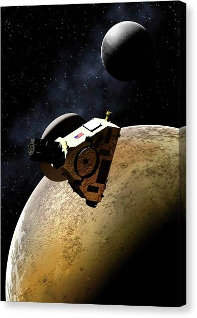 Sun Belt Canvas Print - Artwork Of New Horizons Mission by Mark Garlick
