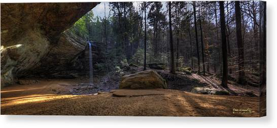 Ash Cave Panorama Canvas Print