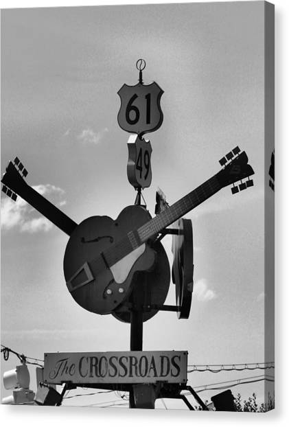 At The Crossroads Canvas Print